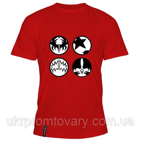 Мужская футболка - Kiss, отличный подарок купить со скидкой, недорого, фото 2