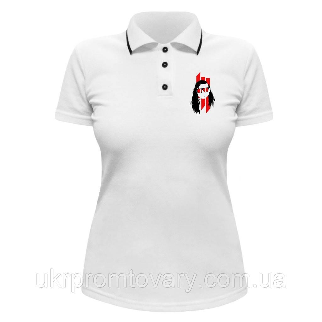 Женская футболка Поло - Skrillex, отличный подарок купить со скидкой, недорого