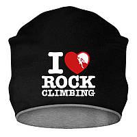 Шапка - I love Rock Climbing, отличный подарок купить со скидкой, недорого
