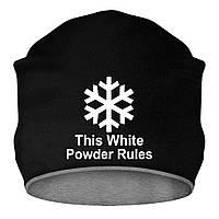 Шапка - This White Powder Rules, отличный подарок купить со скидкой, недорого