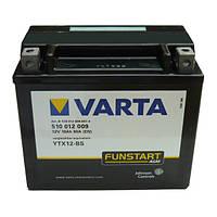 Аккумулятор на мотоциклы  качественный VARTA  12 вольт  152x88x131
