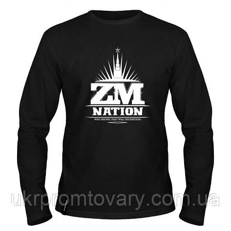 Лонгслив мужской - ZM Nation, отличный подарок купить со скидкой, недорого, фото 2