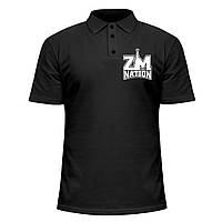 Мужская футболка Поло - ZM nation, отличный подарок купить со скидкой, недорого