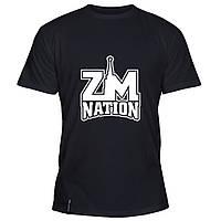Мужская футболка - ZM nation, отличный подарок купить со скидкой, недорого