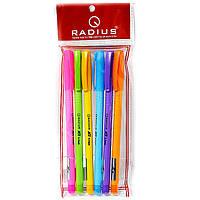 Ручка Radius цветной корпус набор (все синие) 0.7мм