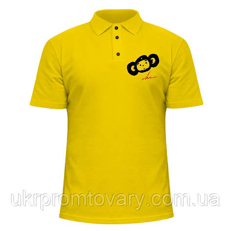 Мужская футболка Поло - Че Бурашка, отличный подарок купить со скидкой, недорого, фото 2