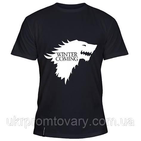Мужская футболка - Winter is Coming, отличный подарок купить со скидкой, недорого, фото 2