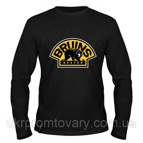 Лонгслив мужской - The Boston Bruins, отличный подарок купить со скидкой, недорого, фото 2