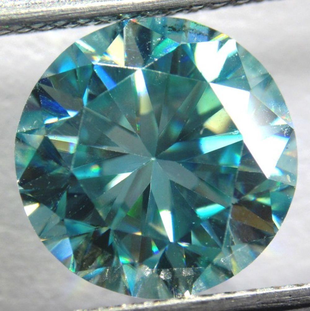Бриллиант - Муассанит  2.00 ct 8.41 x 5.23 mm
