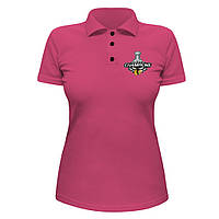 Женская футболка Поло - Champions 2010, отличный подарок купить со скидкой, недорого