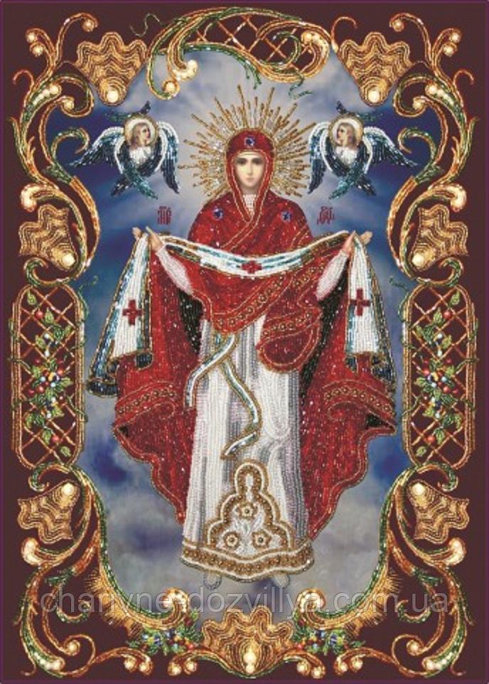 """Набор алмазной вышивки (мозаики) икона """"Покрова Пресвятой Богородицы"""""""