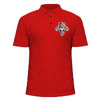 Мужская футболка Поло - Florida Panthers, отличный подарок купить со скидкой, недорого