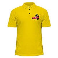 Мужская футболка Поло - Ferrari, отличный подарок купить со скидкой, недорого
