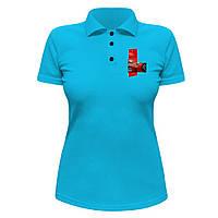 Женская футболка Поло - Ferrari, отличный подарок купить со скидкой, недорого