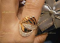 Кільце золоте з фіанітами