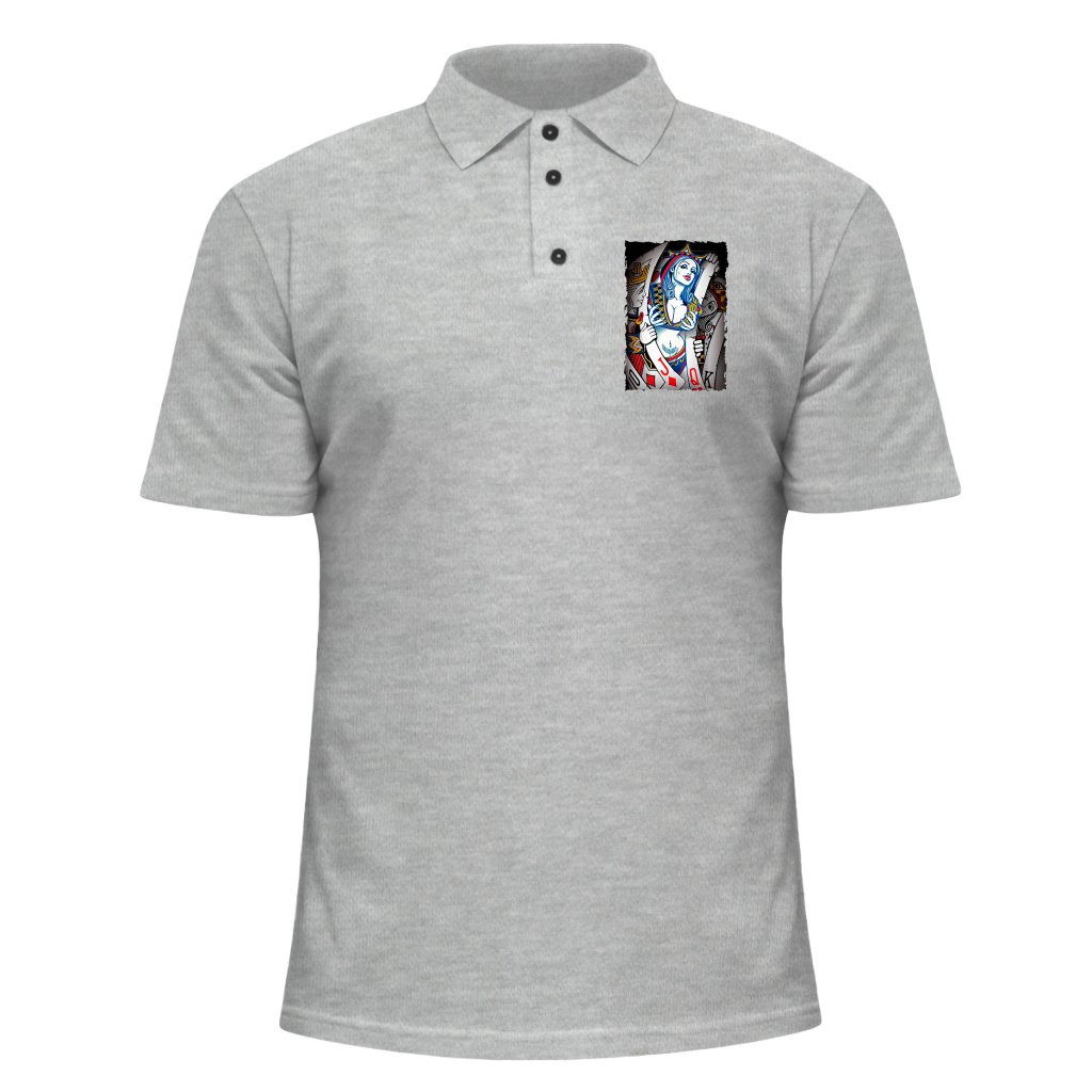 956d45dbe1616 Мужская футболка Поло - Карты, отличный подарок купить со скидкой, недорого