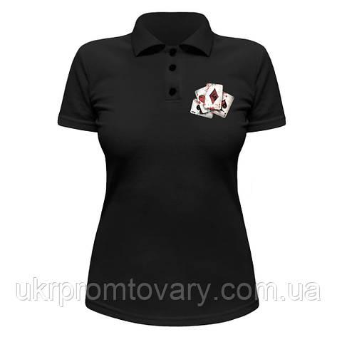 Женская футболка Поло - Карты, отличный подарок купить со скидкой, недорого, фото 2