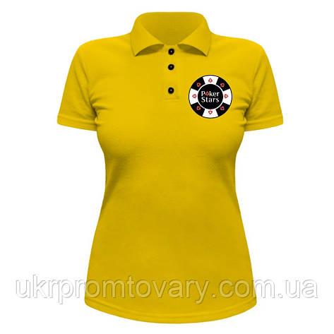 Женская футболка Поло - Фишка, отличный подарок купить со скидкой, недорого, фото 2