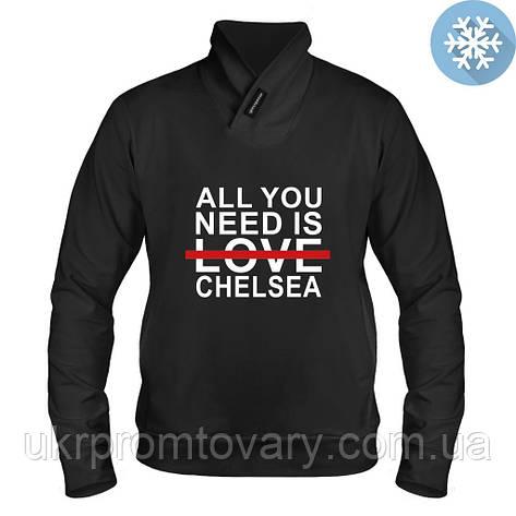 Толстовка утепленная - Love Chelsea, отличный подарок купить со скидкой, недорого, фото 2