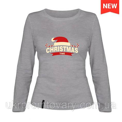 Лонгслив женский - Merry Christmas, отличный подарок купить со скидкой, недорого, фото 2