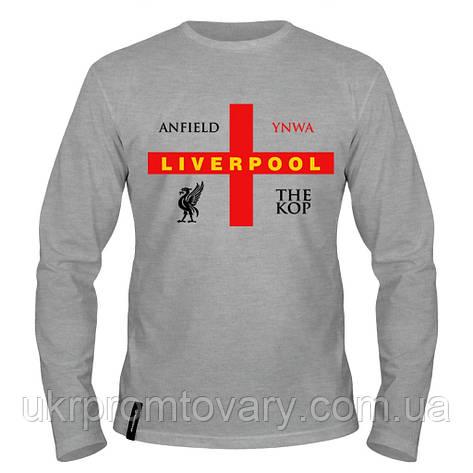 Лонгслив мужской - Liverpool THE KOP, отличный подарок купить со скидкой, недорого, фото 2