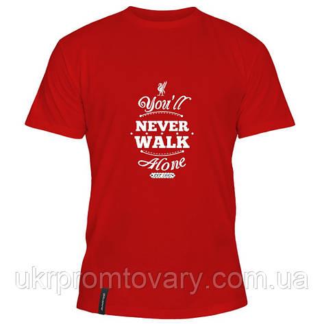 Мужская футболка - Never walk, отличный подарок купить со скидкой, недорого, фото 2
