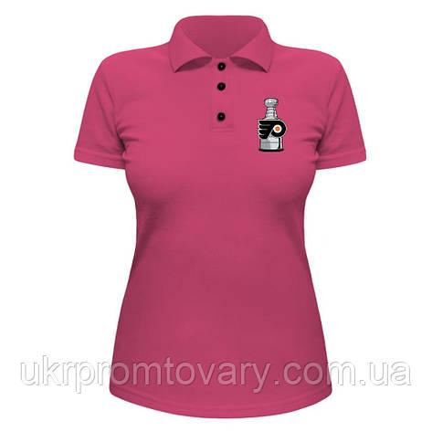 Женская футболка Поло - Flyers Cup, отличный подарок купить со скидкой, недорого, фото 2