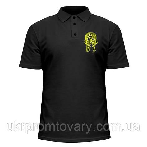 Мужская футболка Поло - Человек-тигр, отличный подарок купить со скидкой, недорого, фото 2