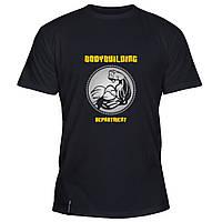 Мужская футболка - Бодибилдинг, отличный подарок купить со скидкой, недорого