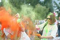 Фарба Холі (Гулал), Оранжева, фасуваня 100 грам, суха порошкова фарба для фествиалів, флешмобів, фото