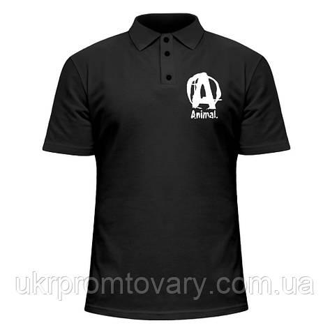 Мужская футболка Поло - Animal, отличный подарок купить со скидкой, недорого, фото 2