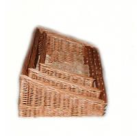 Набор лотков плетёных из лозы