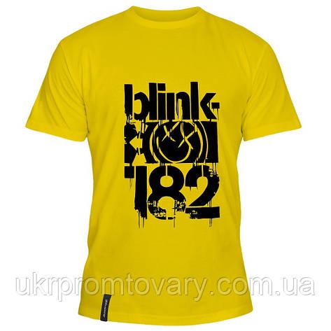 Мужская футболка - Blink Smile 182, отличный подарок купить со скидкой, недорого, фото 2