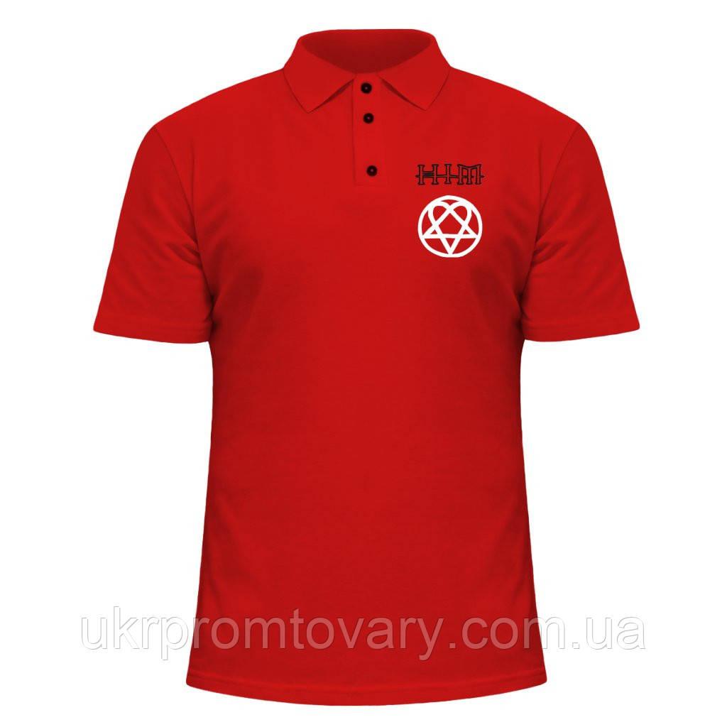 Мужская футболка Поло - HIM, отличный подарок купить со скидкой, недорого