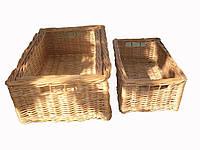 Плетеные коробки 3шт