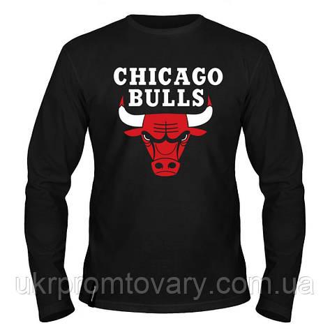 Лонгслив мужской - Chicago Bulls, отличный подарок купить со скидкой, недорого, фото 2