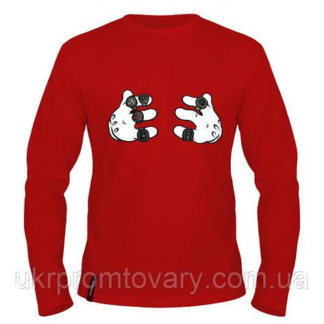 Лонгслив мужской - Микки, отличный подарок купить со скидкой, недорого, фото 2