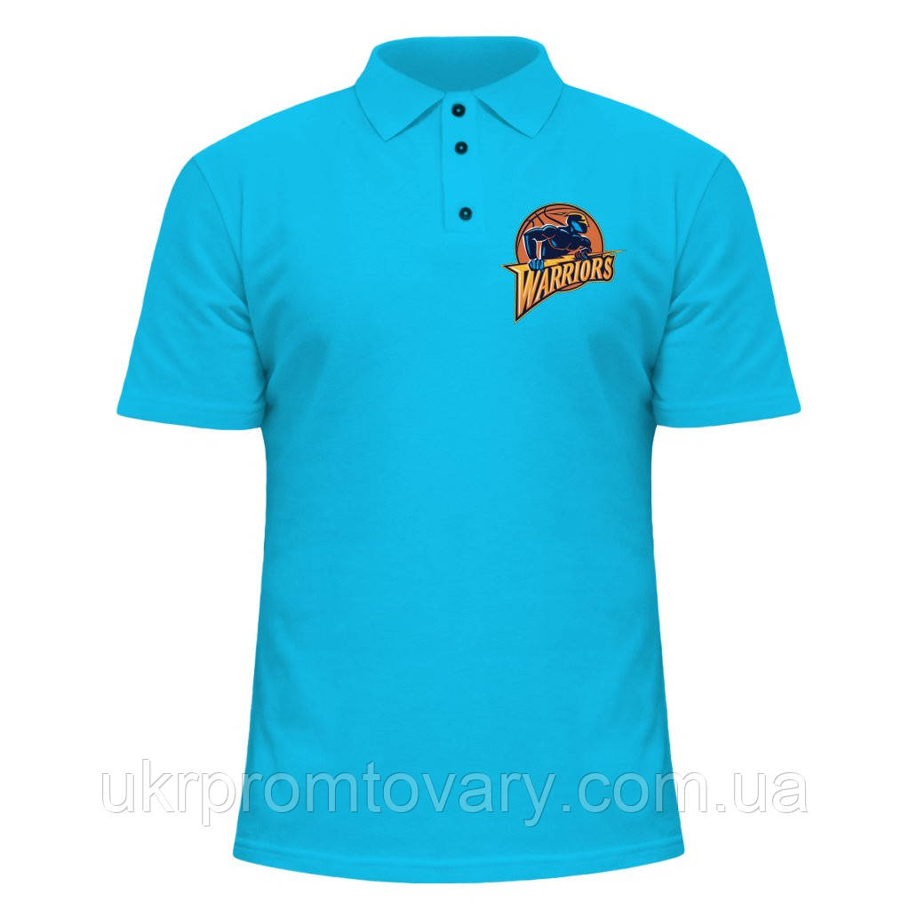 Мужская футболка Поло - Warriors, отличный подарок купить со скидкой, недорого