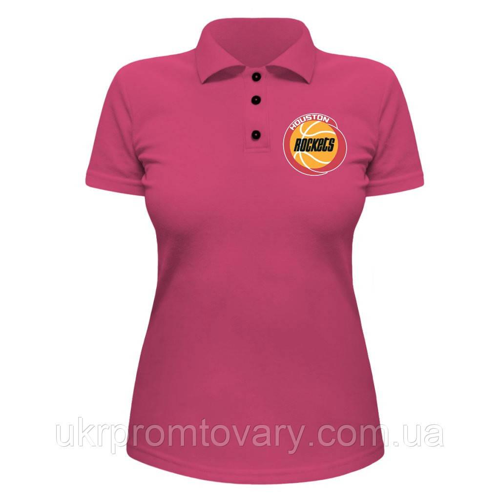 Женская футболка Поло - Rockets, отличный подарок купить со скидкой, недорого