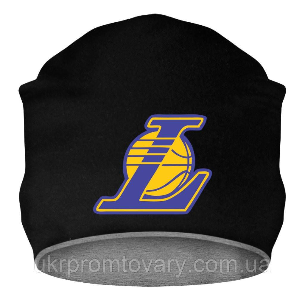 Шапка - Lakers alt logo, отличный подарок купить со скидкой, недорого