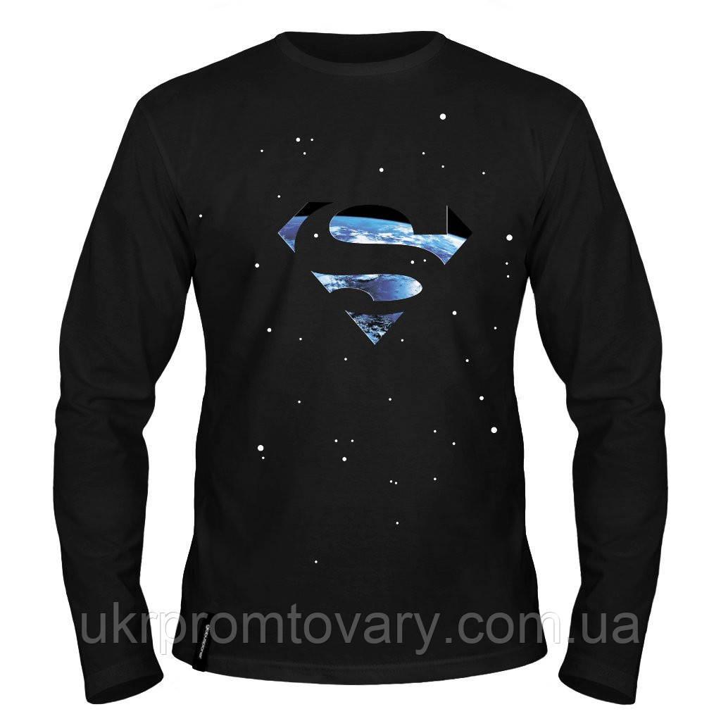 Лонгслив мужской - Superman Smallville, отличный подарок купить со скидкой, недорого