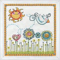 """Набор для вышивания крестом """"Fly Away Birdie//Лети птичка"""" Design Works"""