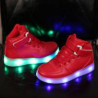 Детская обувь светящаяся  USB зарядка