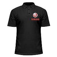 Мужская футболка Поло - Yamaha logo, отличный подарок купить со скидкой, недорого