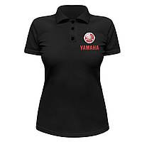 Женская футболка Поло - Yamaha logo, отличный подарок купить со скидкой, недорого