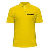 Мужская футболка Поло - Шевроле, отличный подарок купить со скидкой, недорого