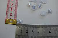 Полубусина белая 10 мм перламутр