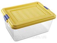 """Универсальная емкость с крышкой для продуктов 15 л 405x305x180 мм из пищевого пластика  """"M-476"""" 1 шт."""