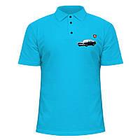 Мужская футболка Поло - Волга Tuning, отличный подарок купить со скидкой, недорого