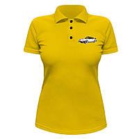 Женская футболка Поло - Porshe 911, отличный подарок купить со скидкой, недорого